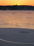 le fleuve et le lever de soleil
