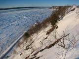 La plage Jacques Cartier vue de la crête
