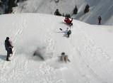glissades à la chute Montmorency