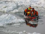 L'Équipe de Canot à glace #007  DMR en pleine action