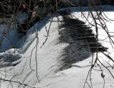 la chute supérieure en hiver