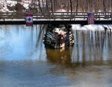 le vieux pont de la frontière à Pohénégamook