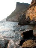 soirée sur les rochers