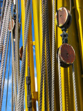 bleu cordes jaune
