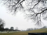 Mist over the fields at the cemetary II