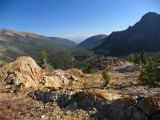 Shackleford Valley view,  off trail above Angel Lake