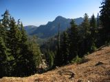 View from PCT down to Campbell lake