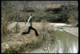 Josiah swinging at Portland Arch