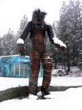 Naked Bigfoot in the snow in Happy Camp