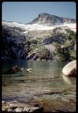 Thompson Peak across Grizzly Lake