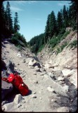 Rest break on PCT 1977 -  Russell Creek Mt Jefferson Wilderness