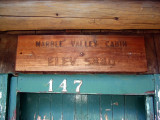 Marble Valley Cabin sign
