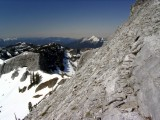 Climbing route on south face of Marble Mountain