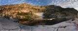 Mirror Lake sunrise panorama