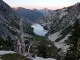 Sapphire Lake at sunset from Mirror Lake