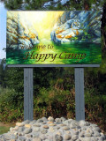 Welcome to Happy Camp town sign