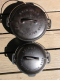 Griswold Tite-Top #8 and #6 Dutch Ovens