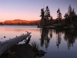Middle Velma lake sunset and moorise