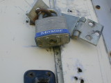busted hasp, lock ok