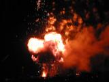 pyro effects at the Burning Man burn