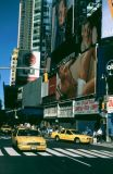 Billboards and Cabs in Times Square