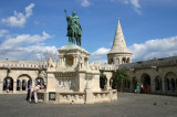 St Stephens Statue, Fishermans Bastion, Budapest