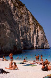 People on Shipwreck Beach, Zakynthos