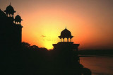Sunset by the Yamuna River, Agra