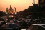 Traffic Chaos at sunset, Bangkok