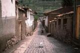 Woman in alleyway in Pisac