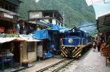 Train Arriving at Aguas Calientes