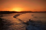 Surfer at Sunset, Byron Bay