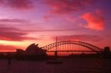 Sydney Opera House and Bridge at Sunset