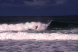 Surfer caught by wave, Sigatoka