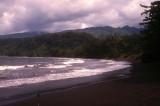 Black Sandy Beach in Tahiti