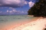 Deserted beach in Moorea