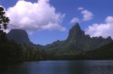 The peaks of Moorea