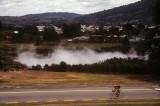 Steam rising in Rotorua