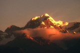 Mount Tasman at sunset