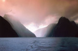 Rainstorm in Milford Sound, Southland