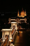 Chain Bridge and St Stephens Basilica, Budapest