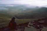 Admiring the view of Brecon Beacons