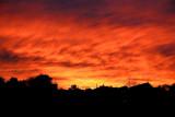 Sky ablaze, Yorkshire