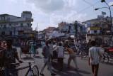 Chaos at Paharganj in Delhi