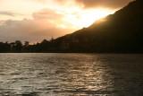 Kylemore Abbey at sundown