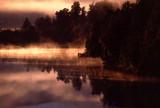 Morning mist on Lake Matheson