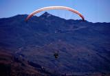 Paraglider over Queenstown