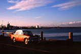 Old car by Auckland Harbour
