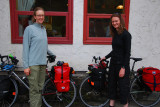 Young ladys pedaling to Whitehorse from Bell 11