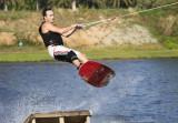 Wakeboarding at Lakeside Cable Water Ski Park, Pattaya